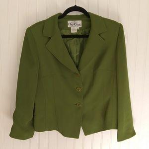 Oleg Cassini green blazer